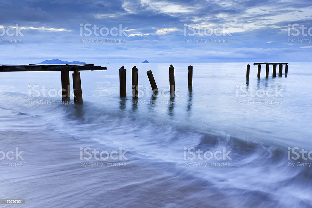 Broken bridge royalty-free stock photo