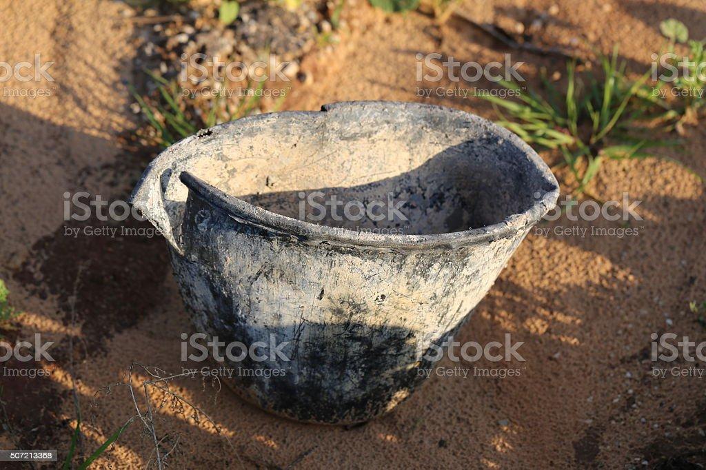 Broken Bucket stock photo