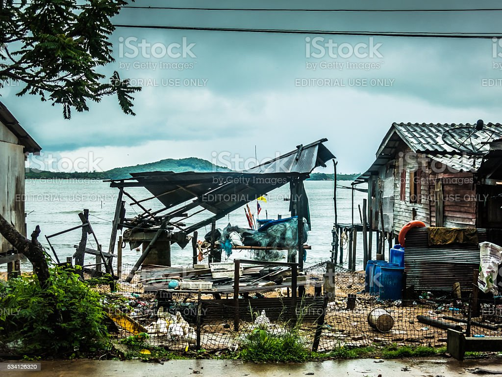 Broken Building, Koh Lanta, Thailand stock photo