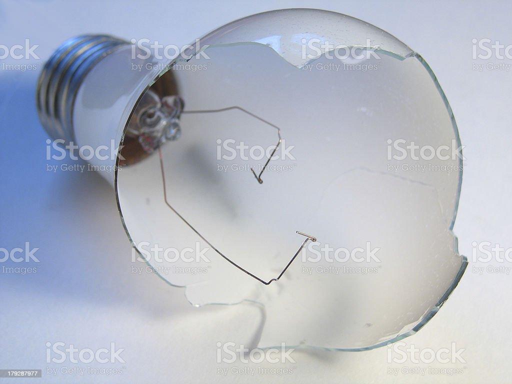 Broken Bulb 1 royalty-free stock photo