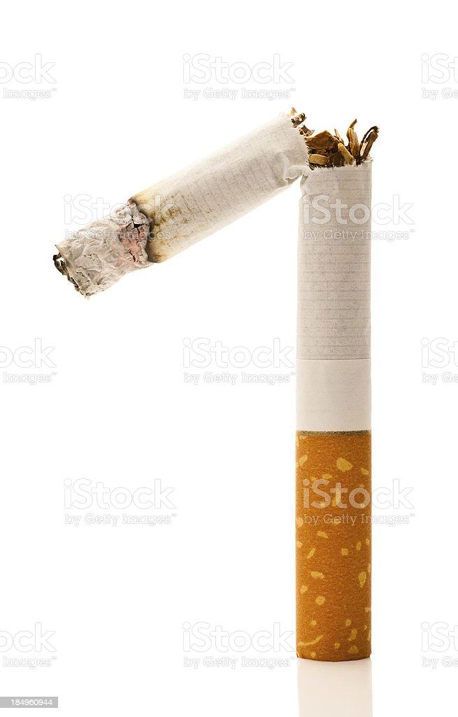 Broken Burning Cigarette royalty-free stock photo