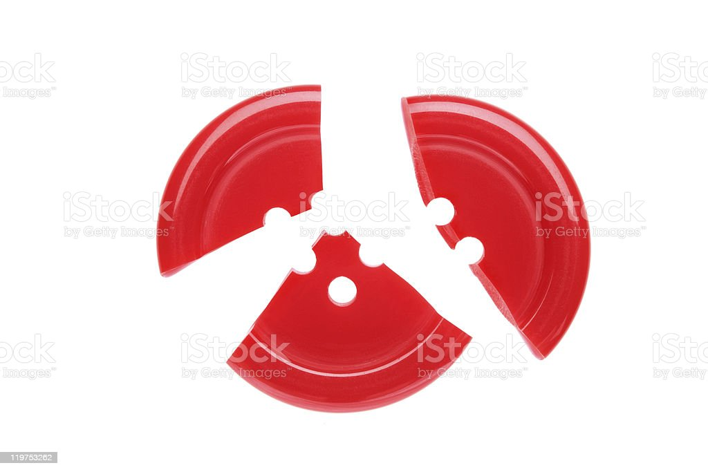 Broken button royalty-free stock photo