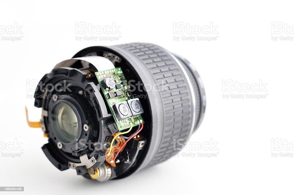 broken camera lens royalty-free stock photo