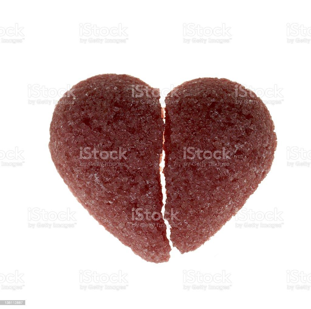 Broken candy heart royalty-free stock photo