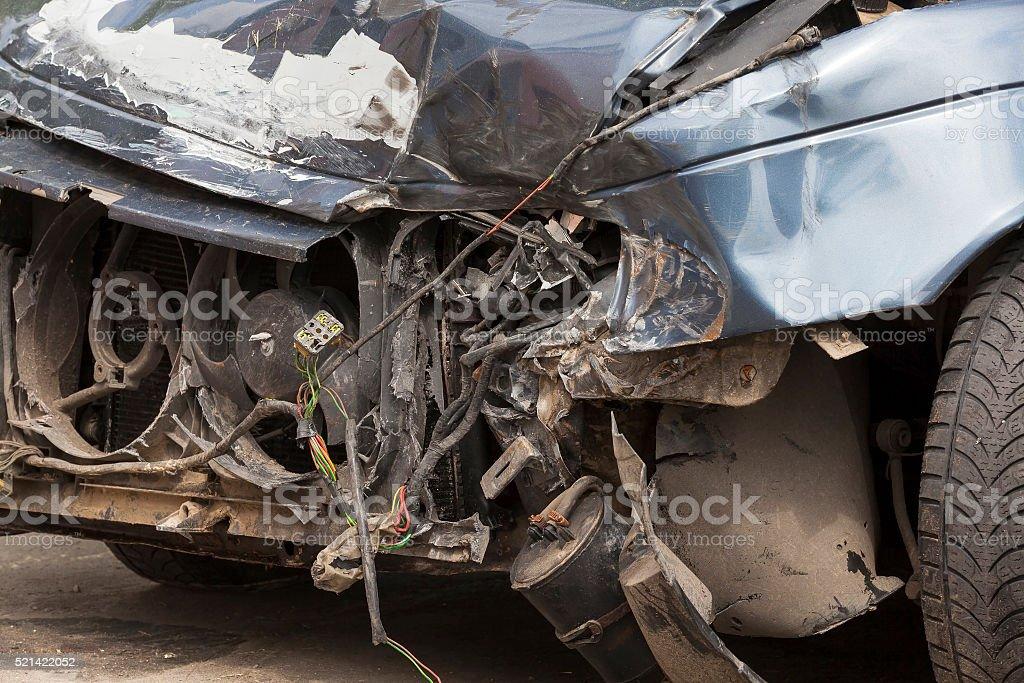 broken car. close-up stock photo