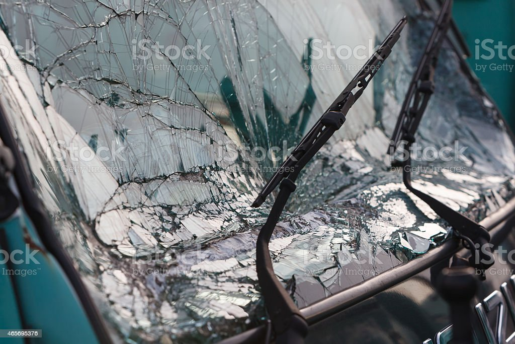 broken car window stock photo