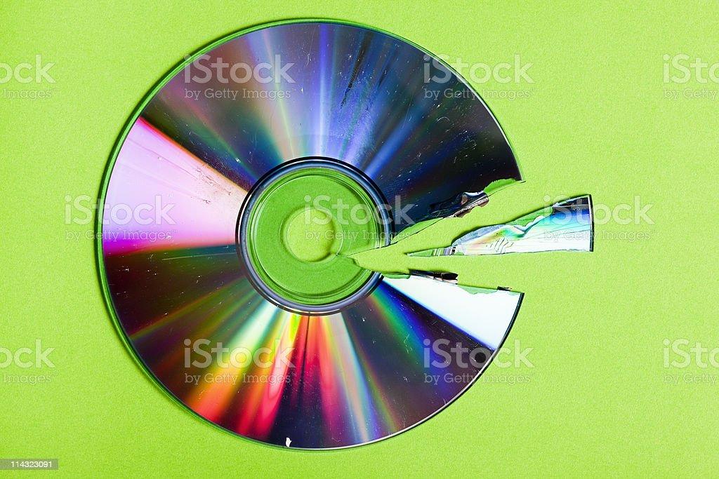 Broken CD / DVD royalty-free stock photo