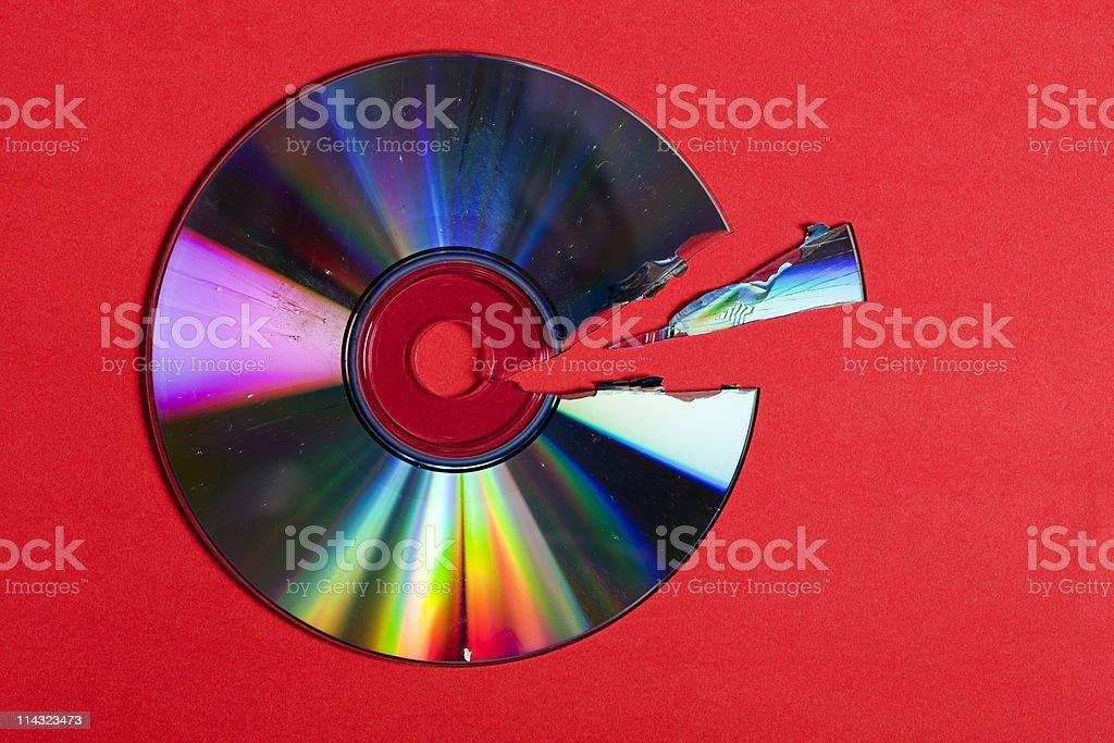 Broken CD / DVD stock photo