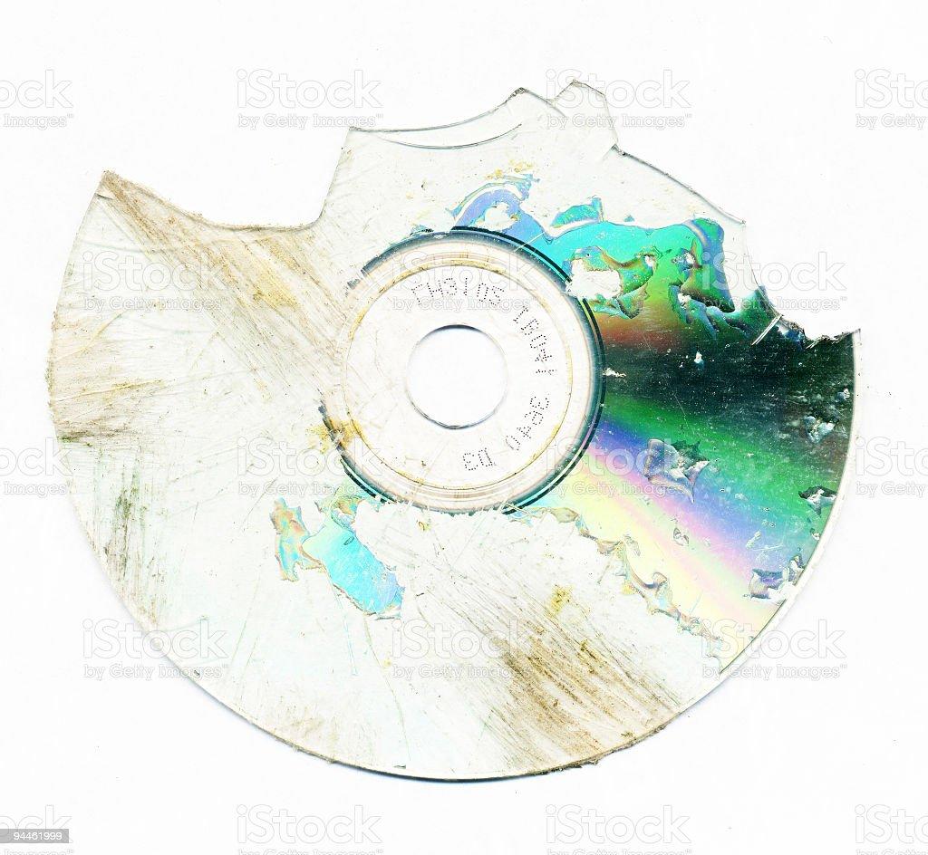 Broken CD royalty-free stock photo