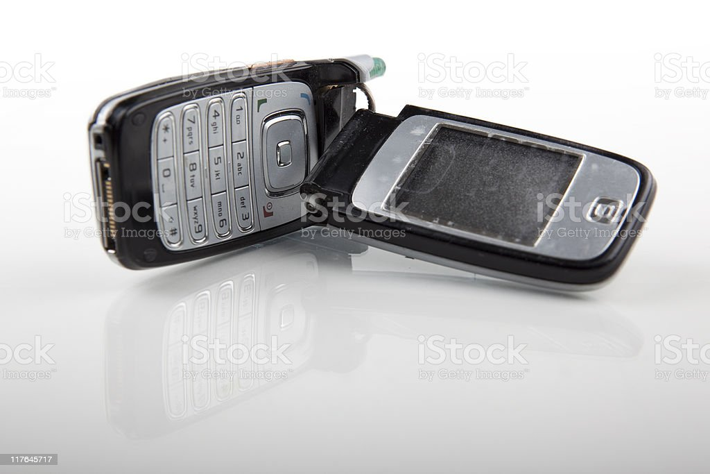 Broken Cell Phone royalty-free stock photo