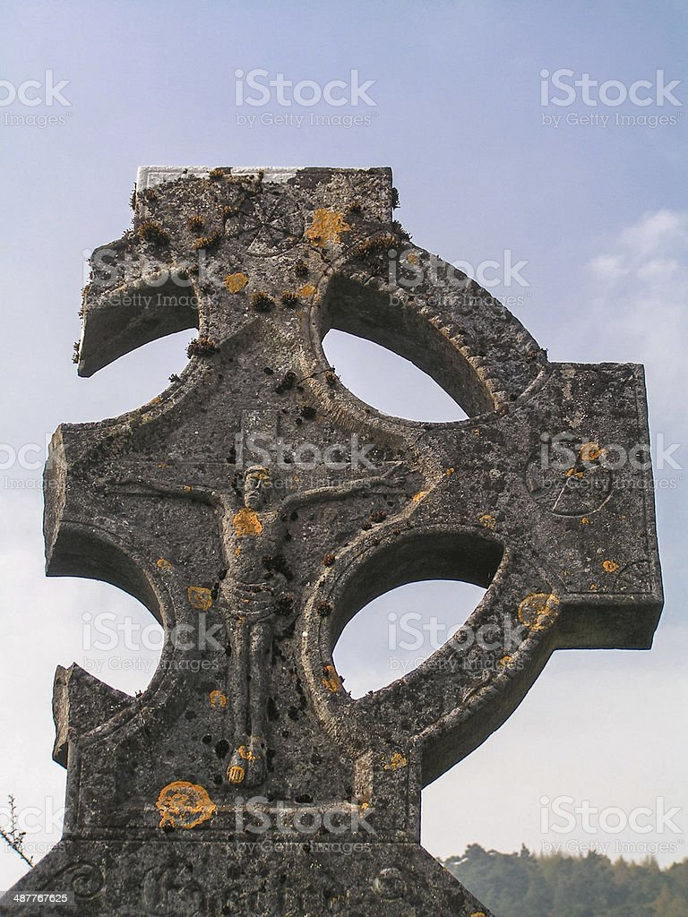 Broken Celtic Cross stock photo
