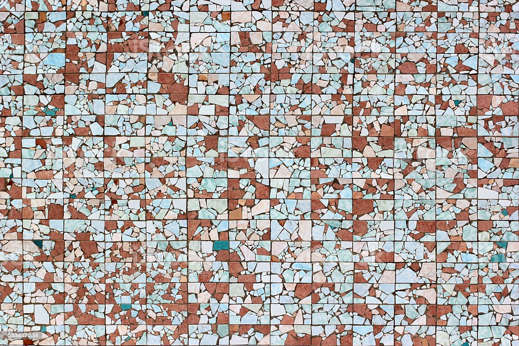 Broken ceramic tiles background stock photo