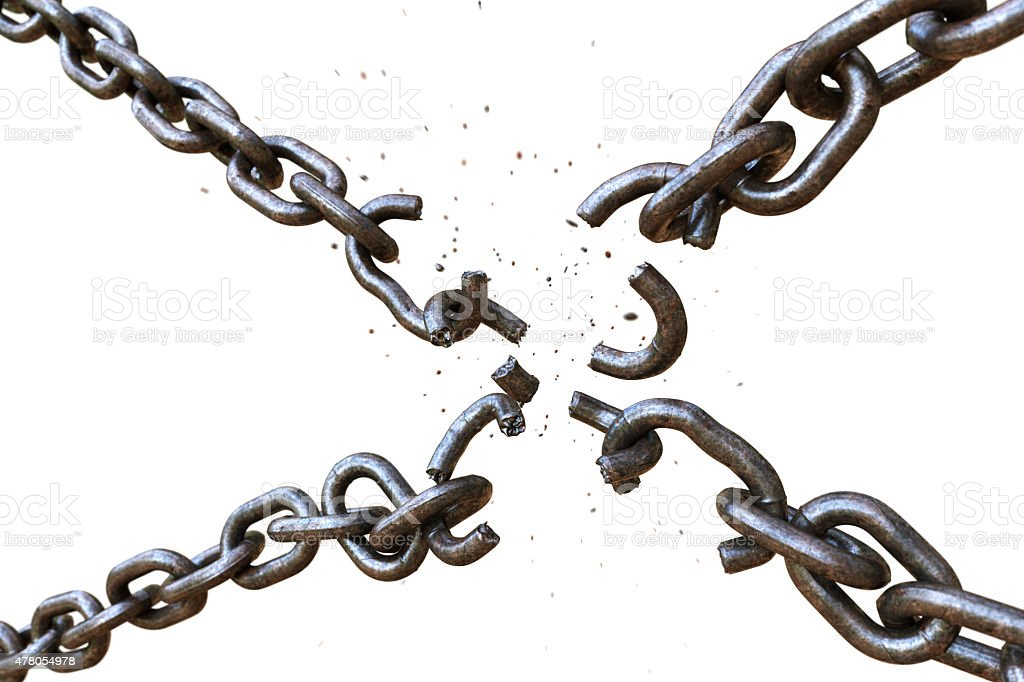 Broken Chain A03 stock photo