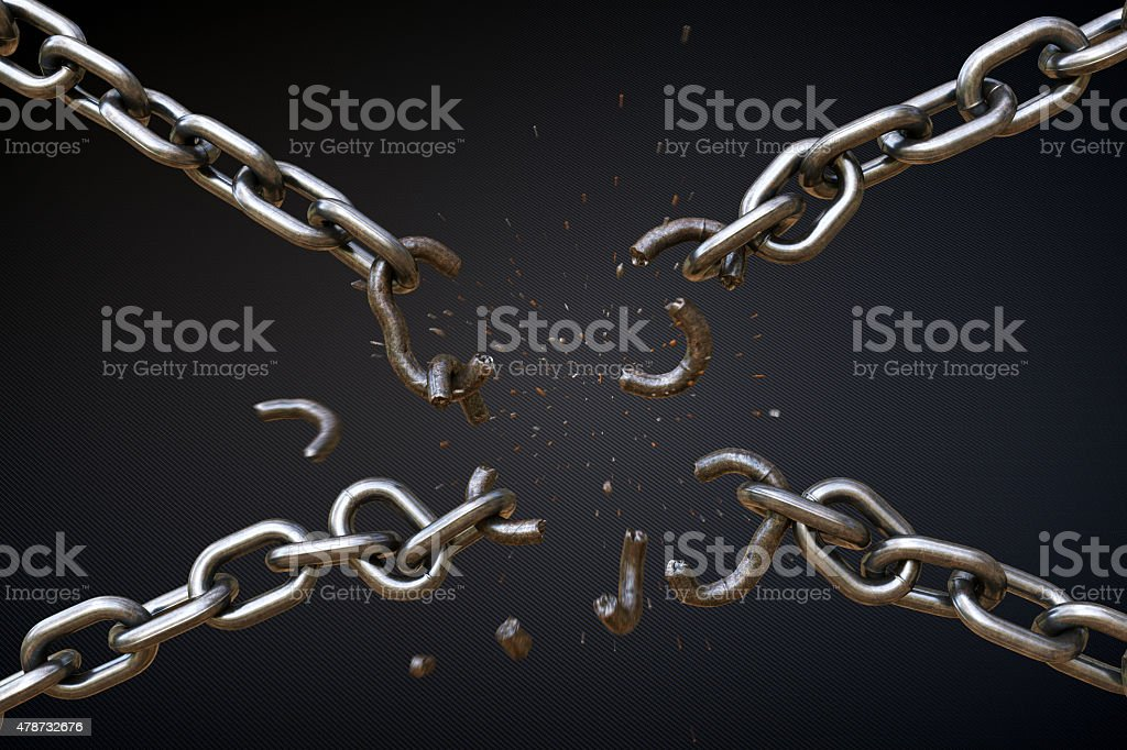 Broken Chain A04 stock photo