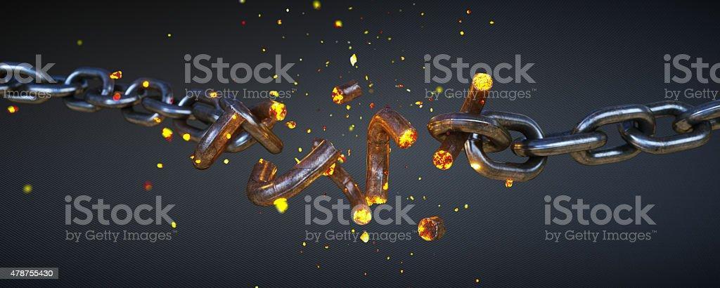 Broken Chain A08 stock photo
