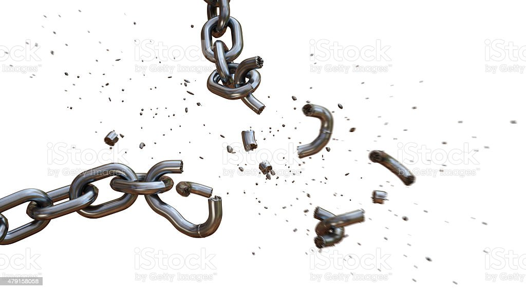 Broken Chain A15 stock photo