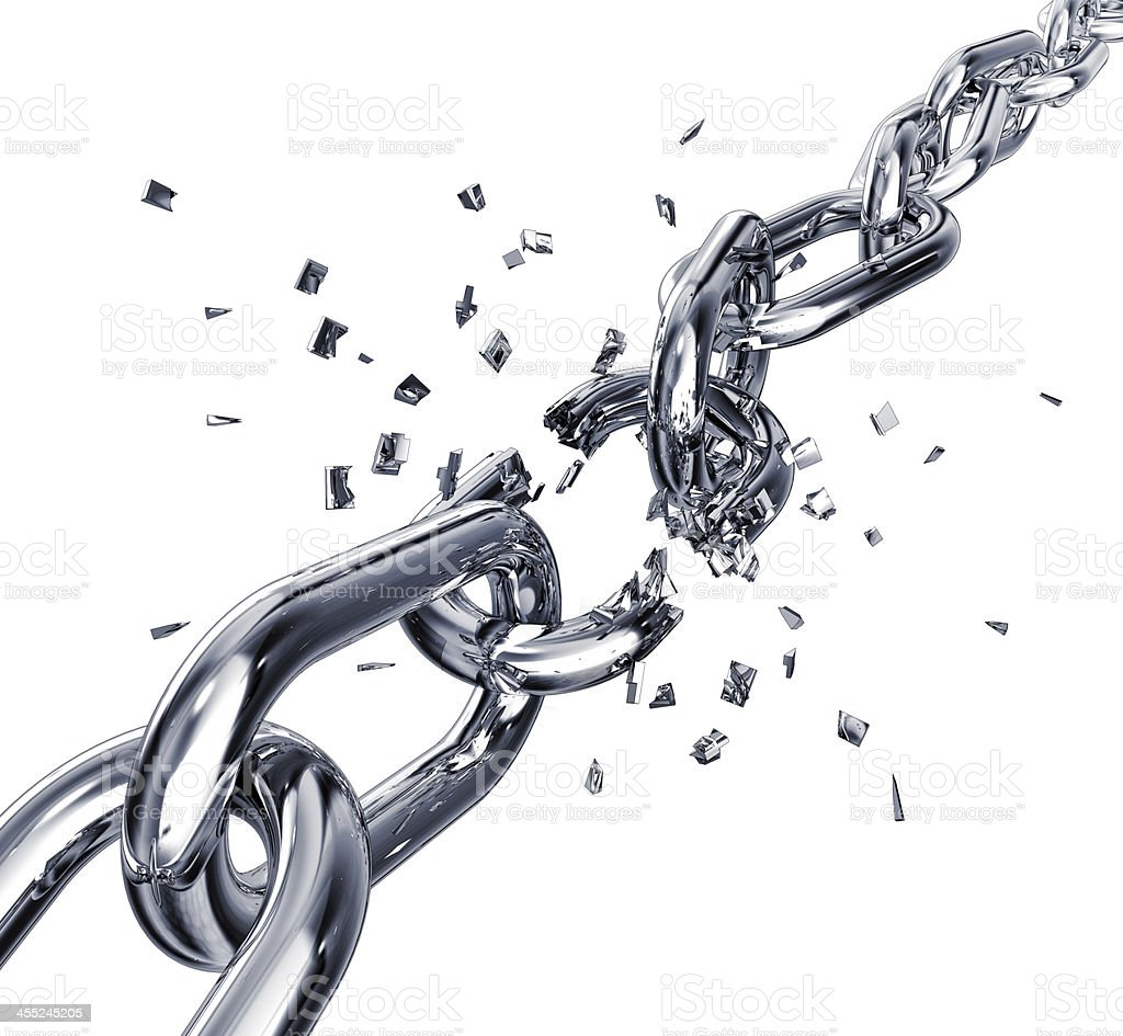 broken chain royalty-free stock photo