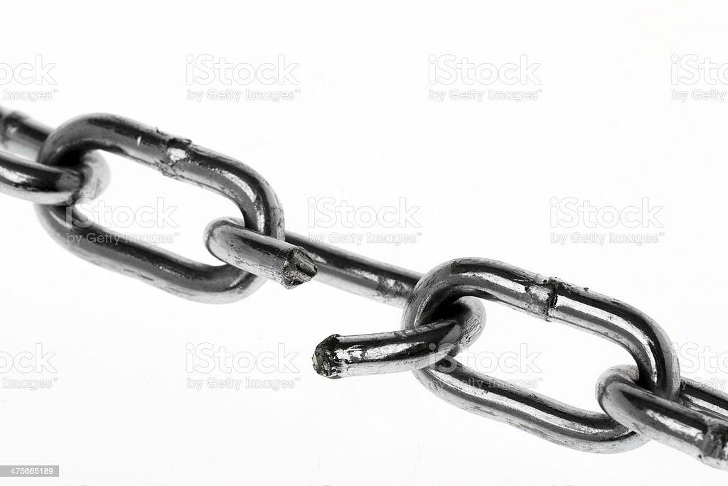 Broken Chain royalty-free stock photo