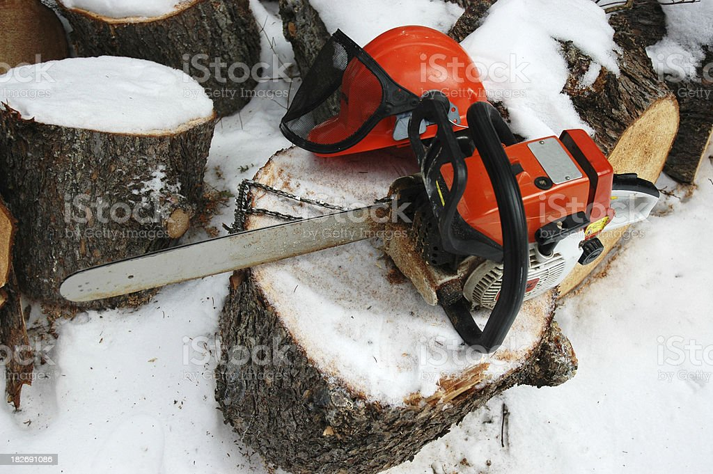 Broken Chainsaw royalty-free stock photo