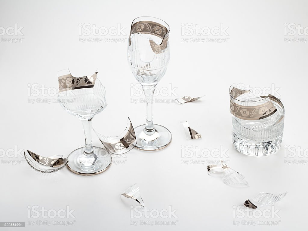 Broken Chalices stock photo