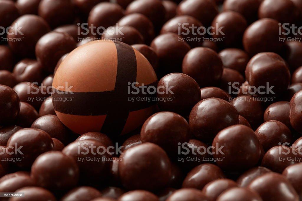 broken chocolate candies stock photo