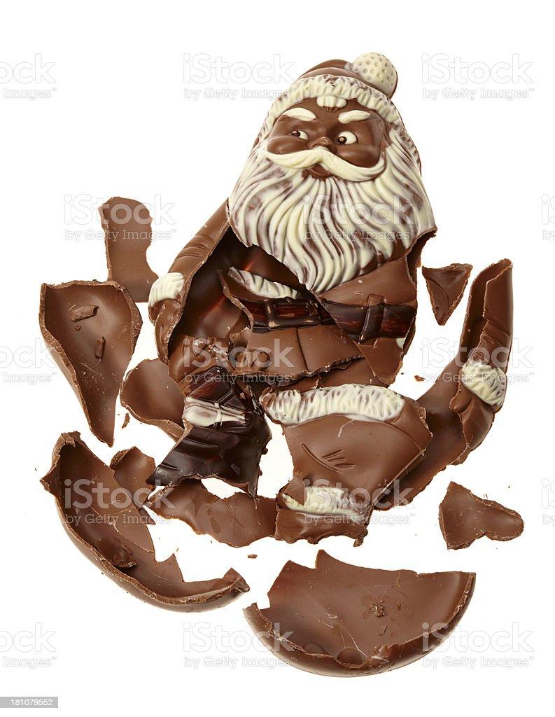 Broken chocolate nikolaus royalty-free stock photo