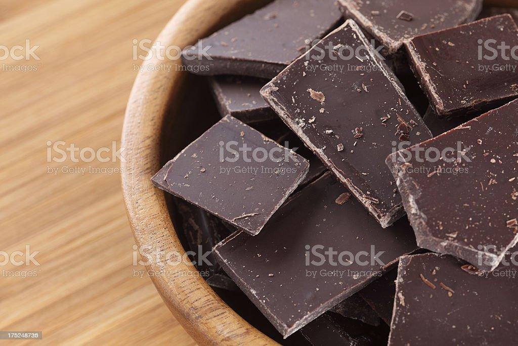 Broken chocolate royalty-free stock photo