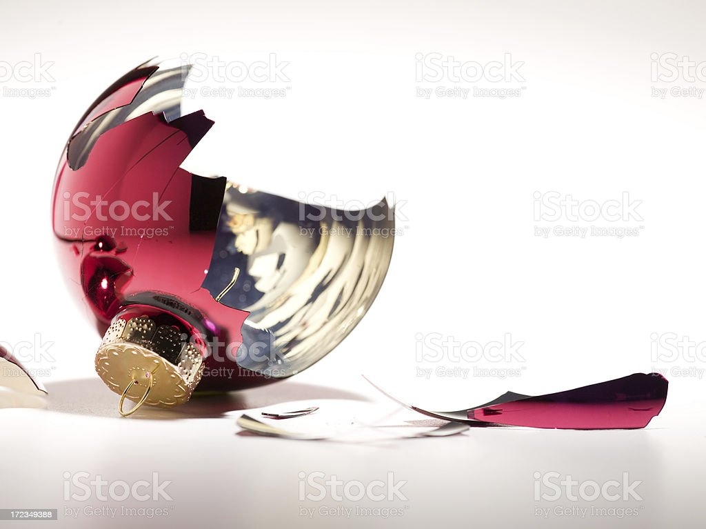 broken christmas ball royalty-free stock photo