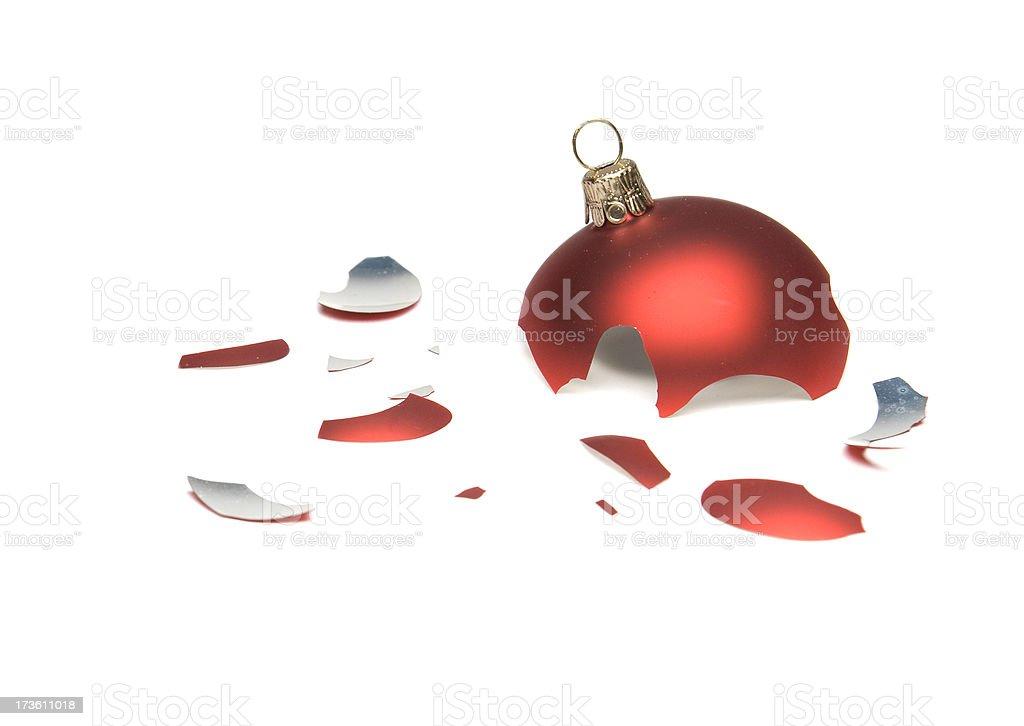 Broken Christmas Ornament stock photo
