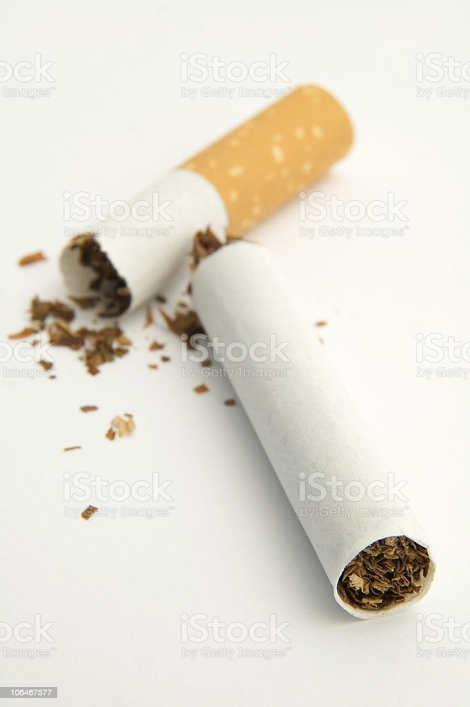broken cigarette royalty-free stock photo
