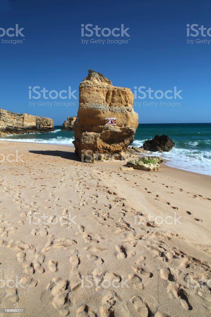 Broken cliff stock photo