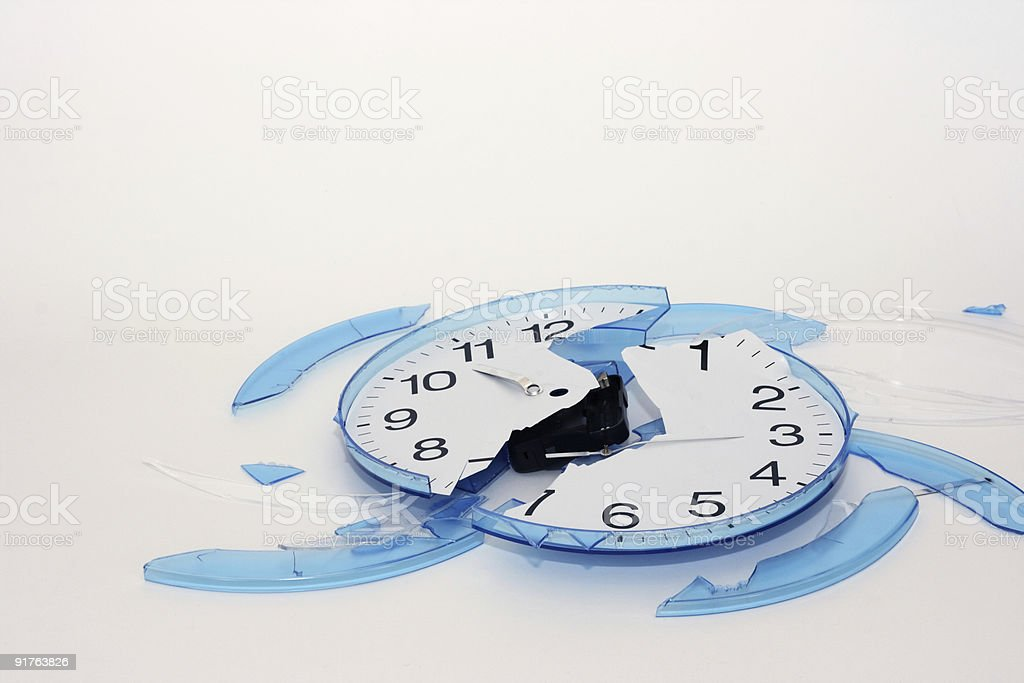 broken clock royalty-free stock photo