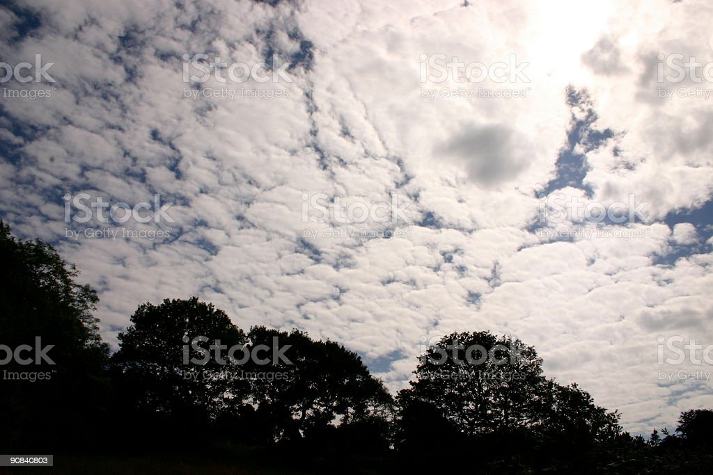 Broken Clouds royalty-free stock photo