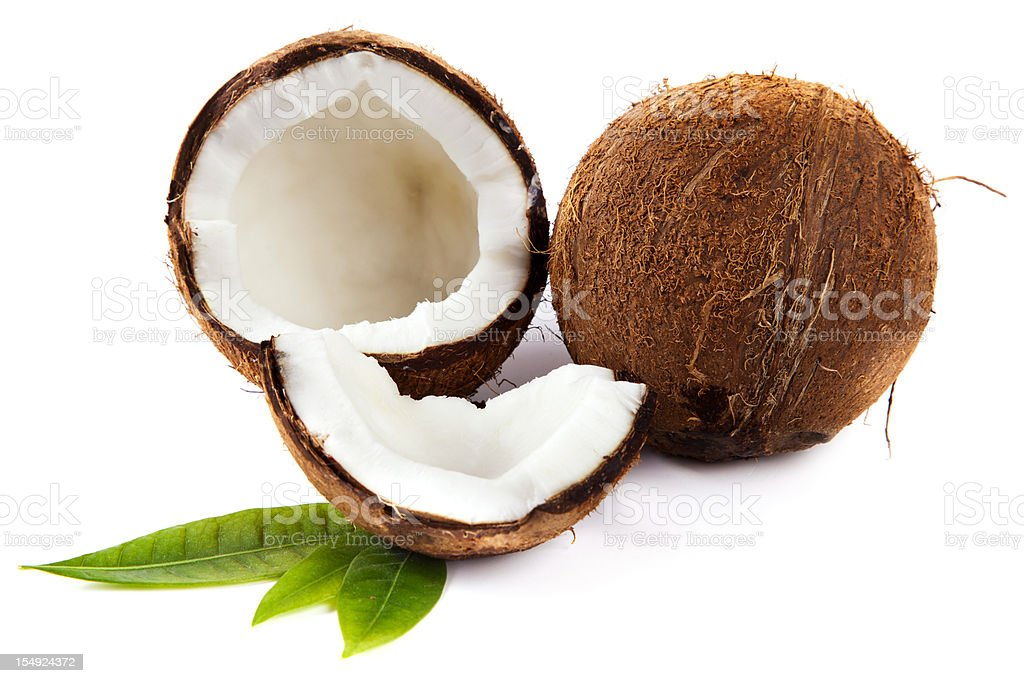 Broken Coconut royalty-free stock photo