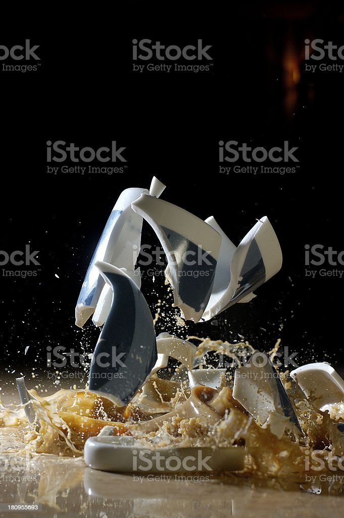 브로컨 커피잔을 royalty-free 스톡 사진