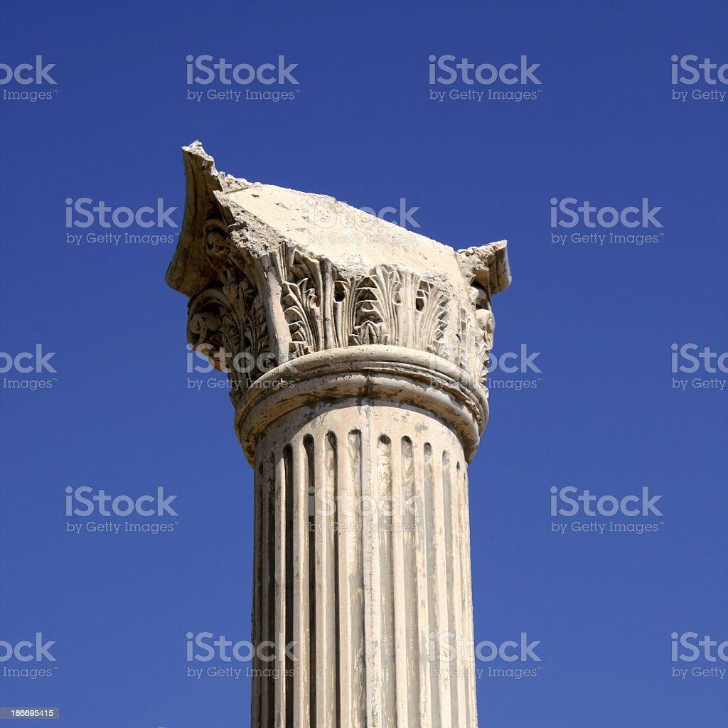 Broken column royalty-free stock photo