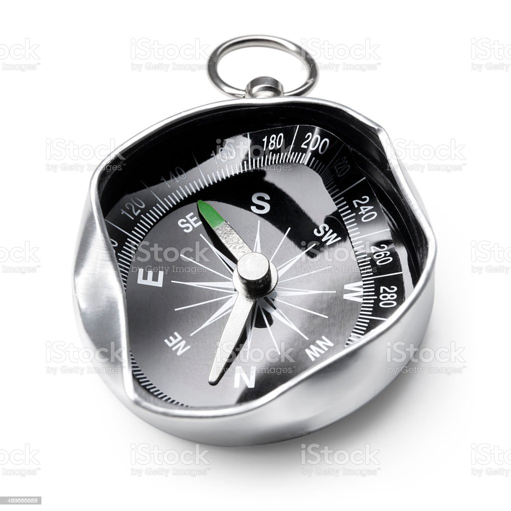 Broken compass. Concept image. stock photo