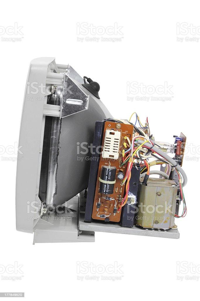 Broken Computer Monitor royalty-free stock photo