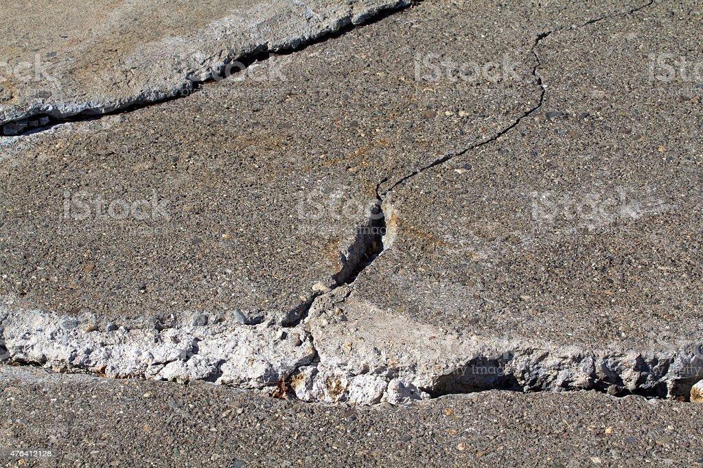 Broken concrete stock photo