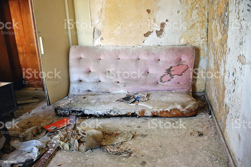 broken couch royalty-free stock photo