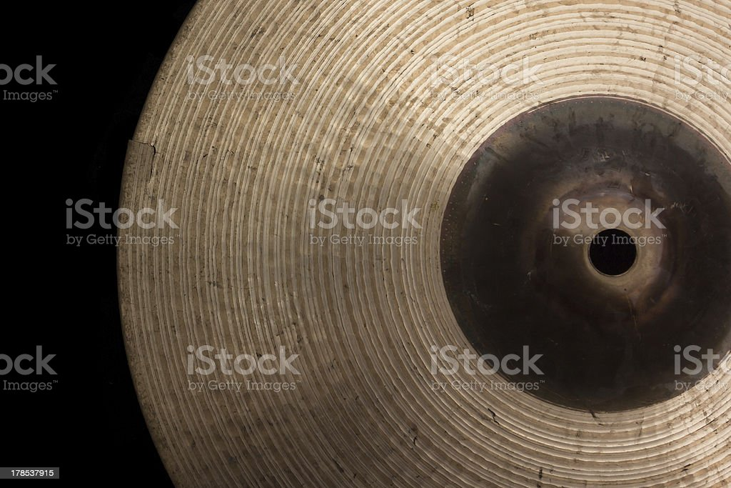Broken cymbal royalty-free stock photo