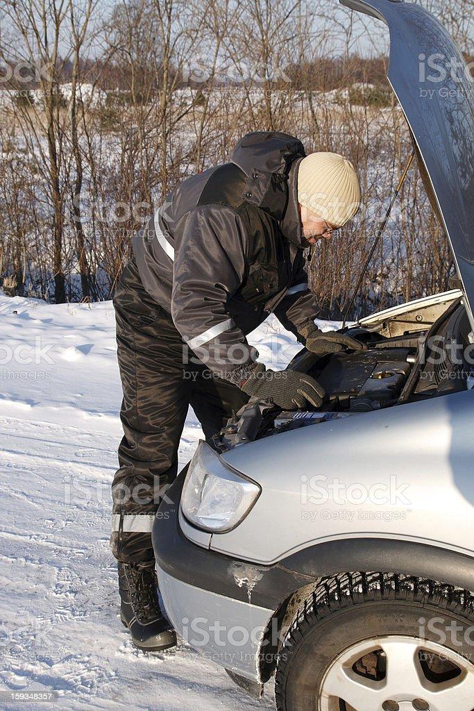 broken diesel car royalty-free stock photo