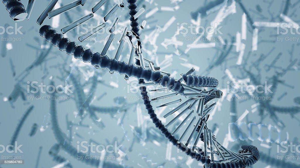 Broken DNA. stock photo