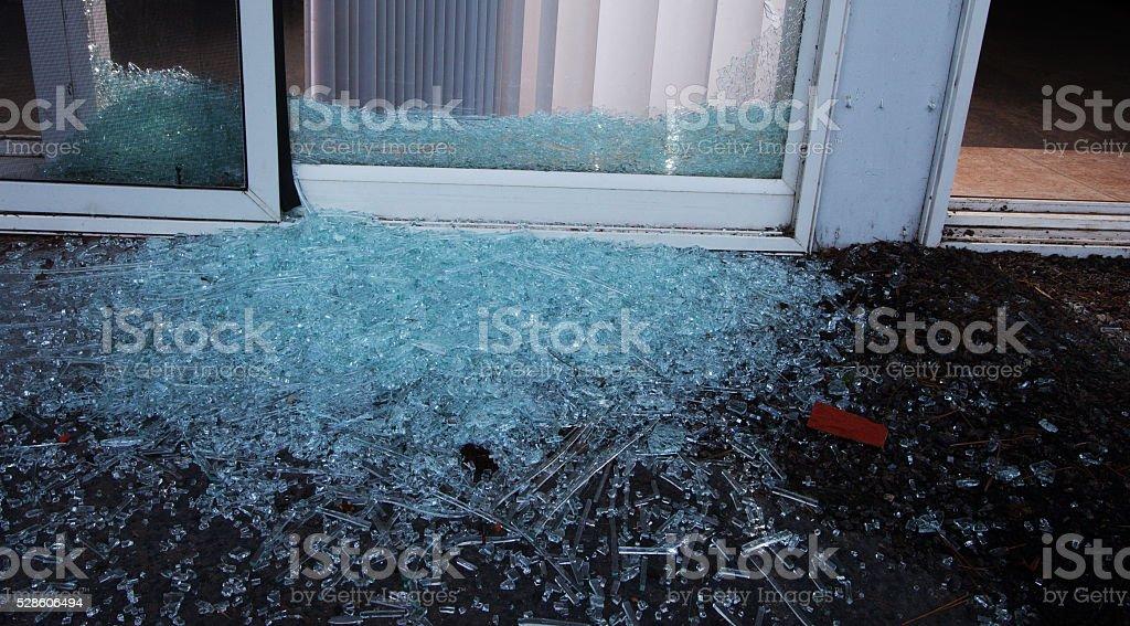 Broken door stock photo