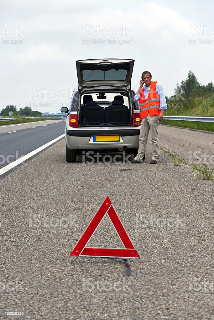 Broken down car royalty-free stock photo