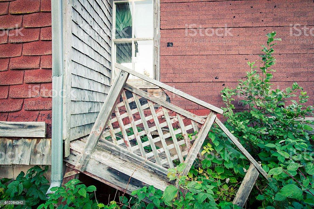 broken down house stock photo
