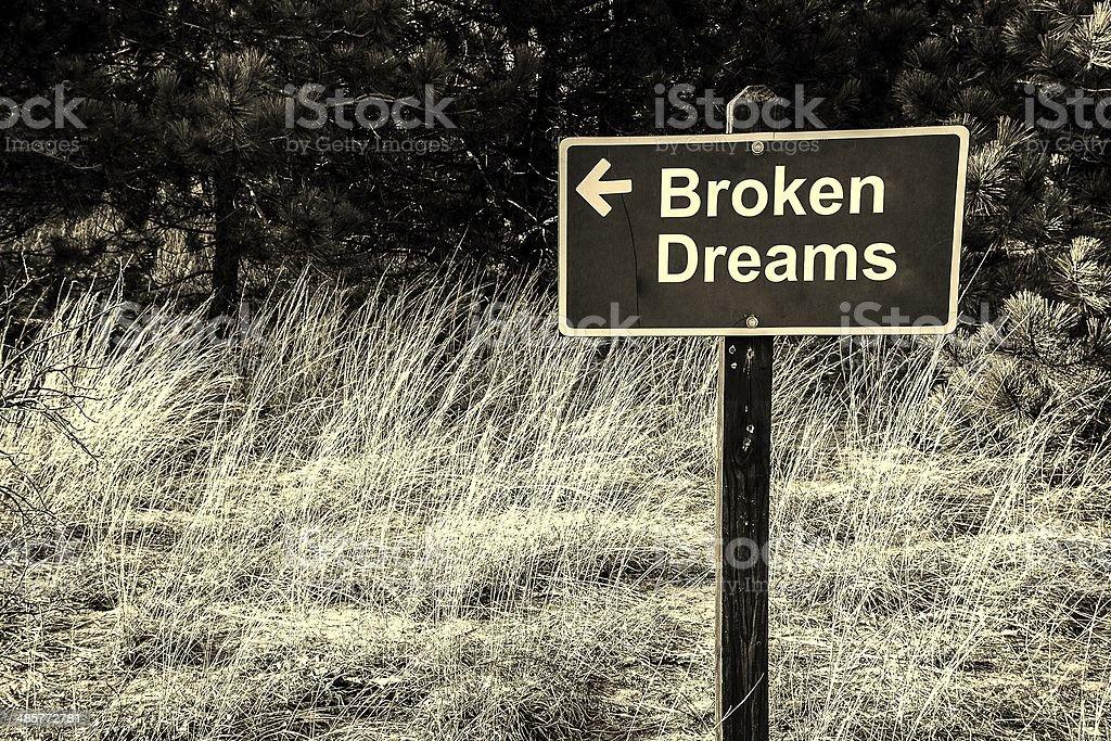 Broken Dreams stock photo