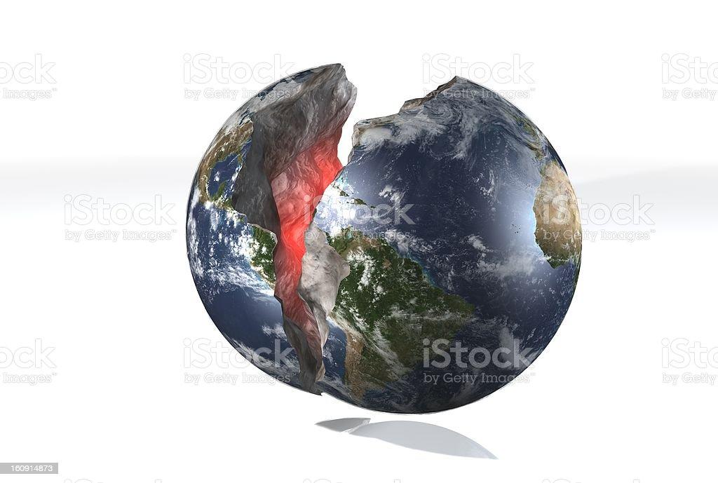 Broken Earth stock photo