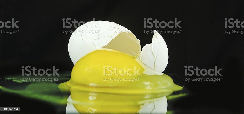 Broken Egg ... Close-Up royalty-free stock photo