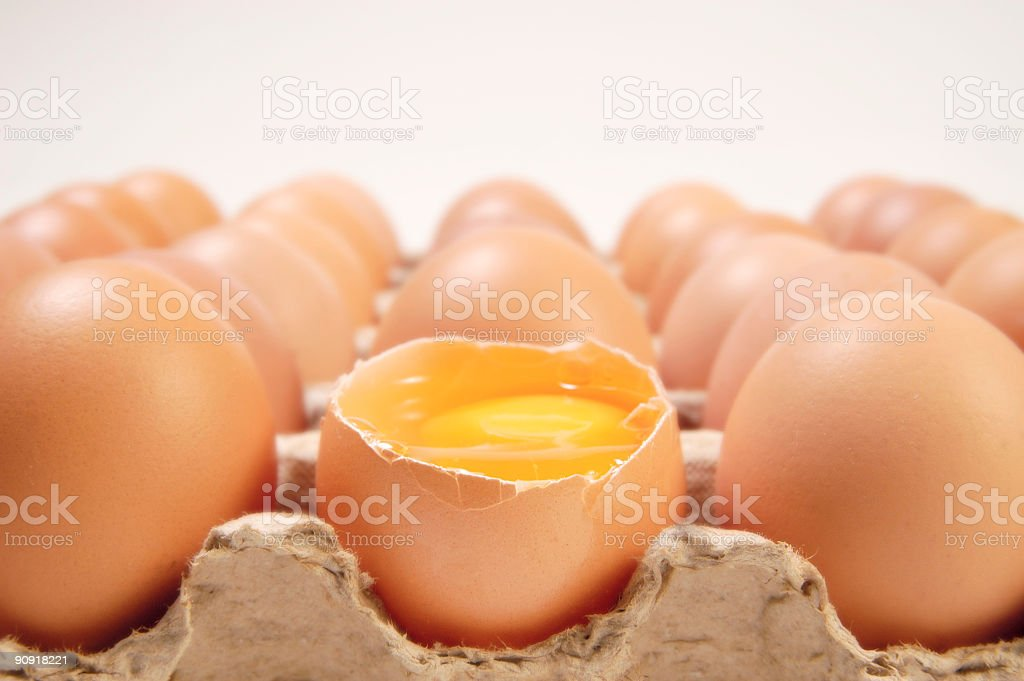 Broken Egg stock photo